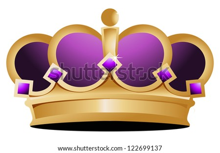 crown illustration design over a white background - stock photo