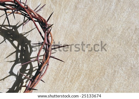 Crown of thorns  on grungy background - stock photo