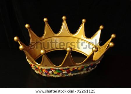 Crown on black - stock photo
