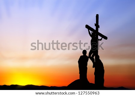 Crucifixion of Jesus - stock photo