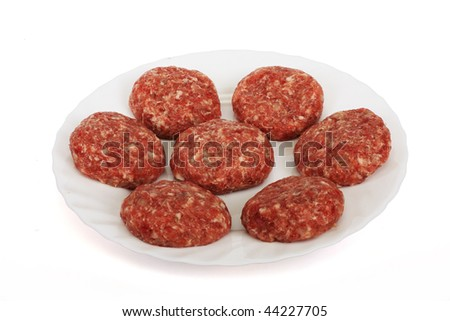 Crude cutlets prepared from a mincemeat - stock photo