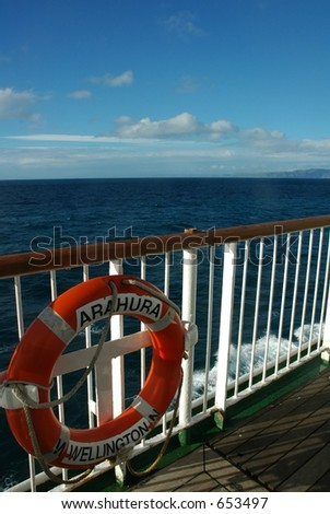 cruise from picton to wellington, new zealand - stock photo