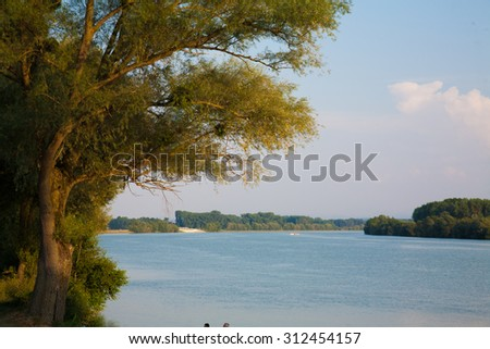 cruise on the Danube from vienna to merk austria - stock photo