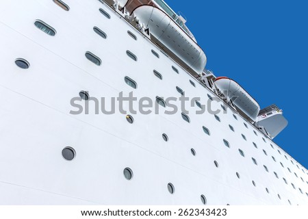 Cruise ship, side view - stock photo