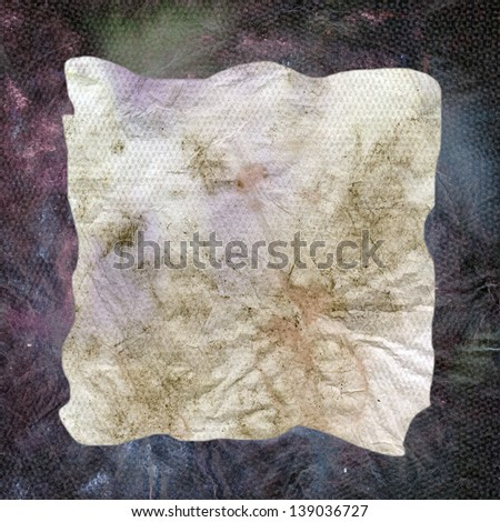 crumbled dirty napkin texture - stock photo
