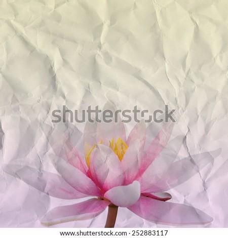 Crumbled Paper Lotus - stock photo