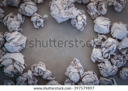 crump paper with copy-space for your text - stock photo