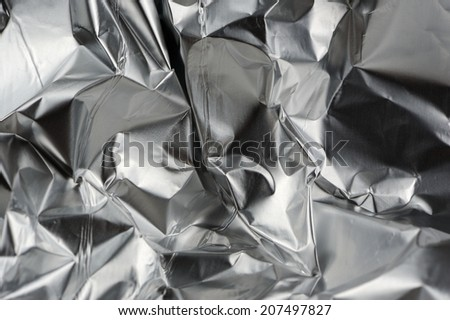 Crumpled Aluminum Metal Foil - stock photo