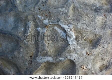 Crumpled grunge metallic surface texture. - stock photo