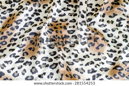 Crumpled leopard texture background - stock photo