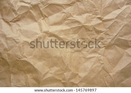 Crumpled paper for background  - stock photo