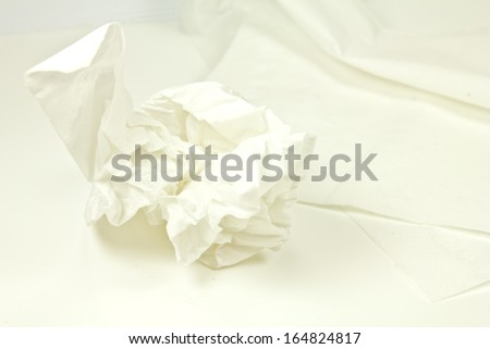 Crumpled paper on white background - stock photo