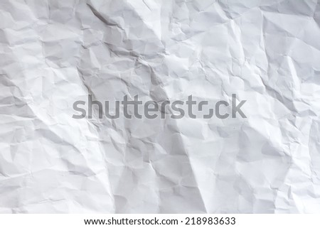 Crumpled paper texture - stock photo