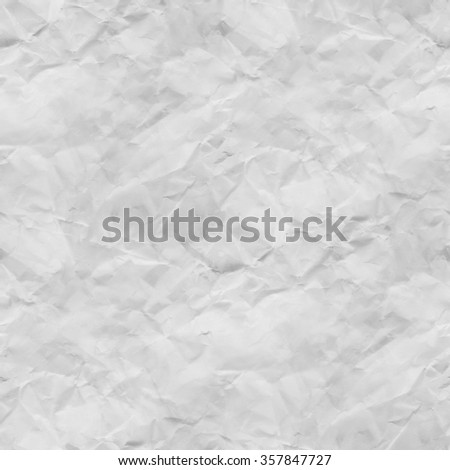 crumpled paper texture background, seamless background - stock photo