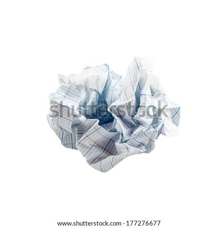 Crumpled piece of paper - stock photo
