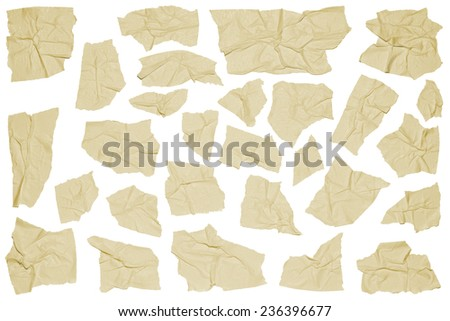 Crumpled pieces of masking tape - stock photo
