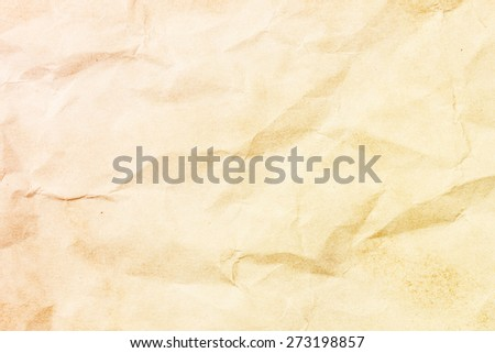 Crumpled stained paper. Old retro letter texture.  - stock photo