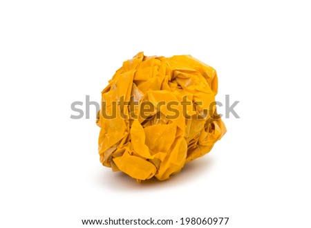 crumpled tape on white background - stock photo