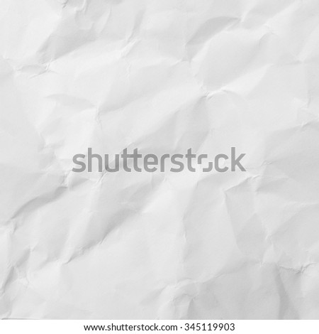 Crumpled white paper background - stock photo