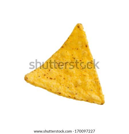Crunchy Corn Tortilla Chip - stock photo