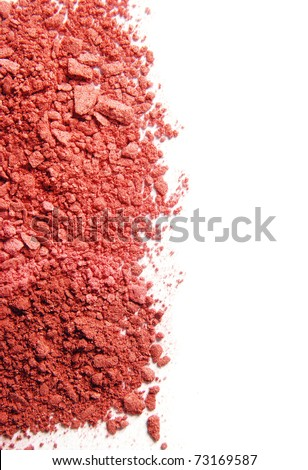 Crushed Blush stick out of the frame - stock photo