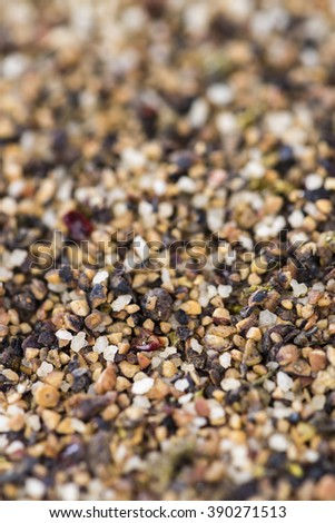 Crushed Peppercorns for use as background image or as texture (detailed close-up shot) - stock photo