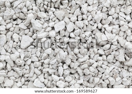 Crushed white stone background - stock photo