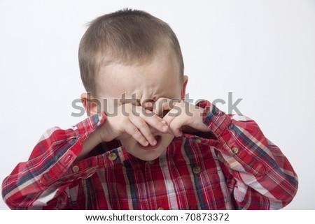 Crying boy - stock photo