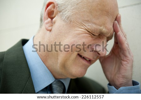 Crying Businessman - stock photo