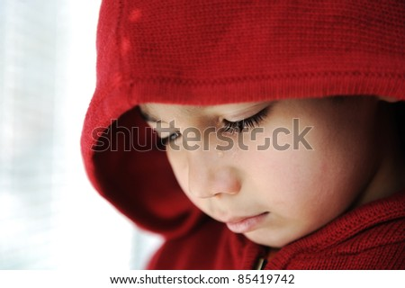 Crying little child - stock photo