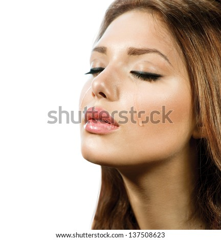 Crying Woman. Beauty Girl Crying. Tears. Cry - stock photo