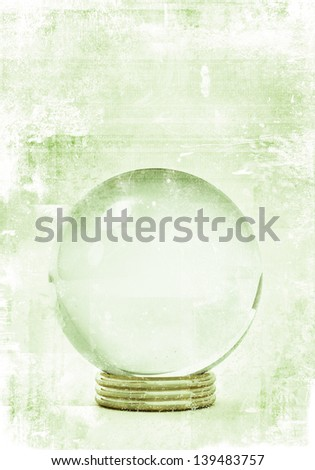 crystal ball in grunge style illustrations, for future prediction concepts. - stock photo