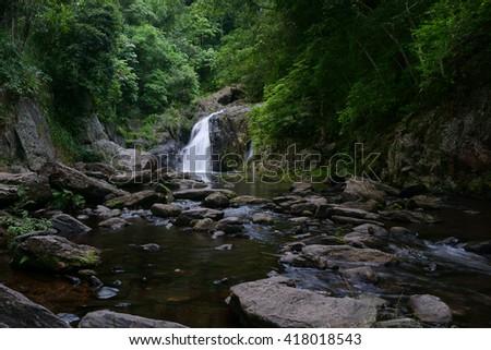 Crystal Cascades  near Cairns, Queensland, Australia - stock photo