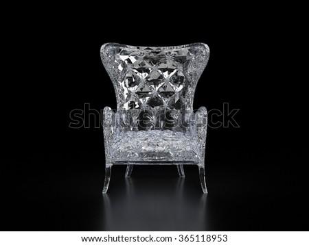 crystal chair luxury - stock photo