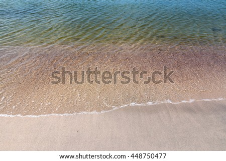 Crystal clear water at the Baltic seashore - stock photo