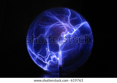 Crystal Electric Ball - stock photo