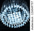crystal- glass chandelier - stock photo