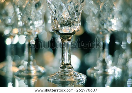 crystal glasses - stock photo