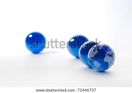 crystal globe - stock photo