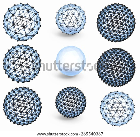 crystal lattice - stock photo