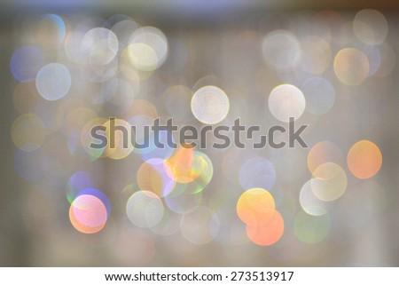 crystal lights blurred - stock photo