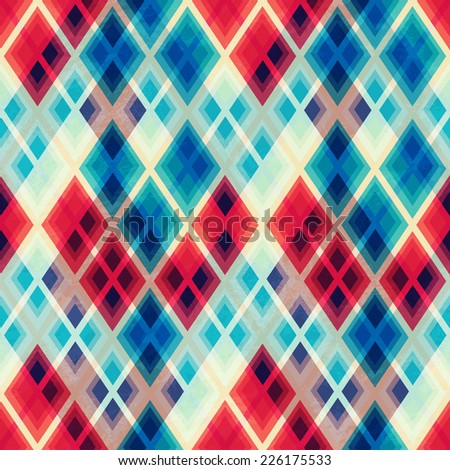 crystal mosaic seamless pattern (raster version) - stock photo