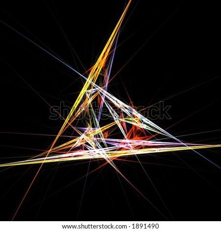 Crystal prism lights - stock photo