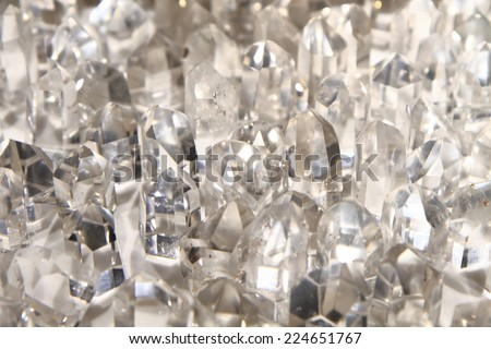 crystal quartz  - stock photo