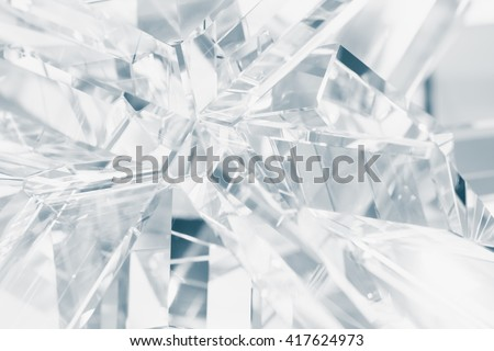 crystal refractions background - stock photo