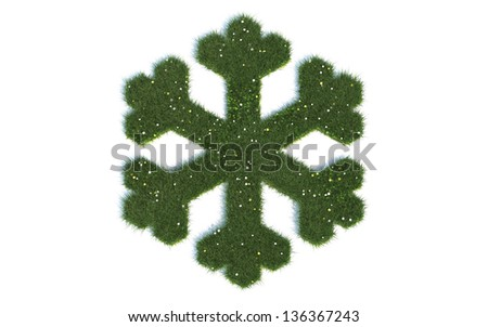 Crystal Series Symbols out of realistic Grass - stock photo