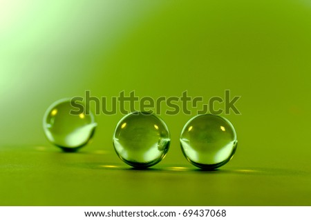 crystal spheres - stock photo