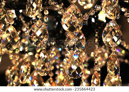 crystal strass for the lamp  for luxury interior design - stock photo