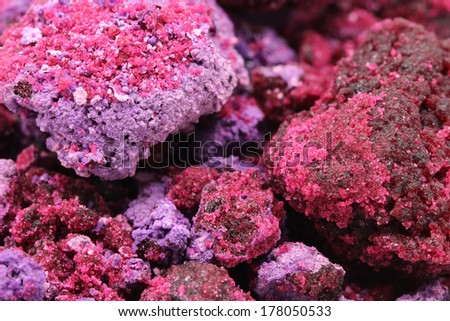 Crystal structure of red closeup - stock photo