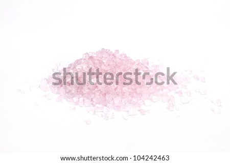 Crystals of natural sea salt - stock photo